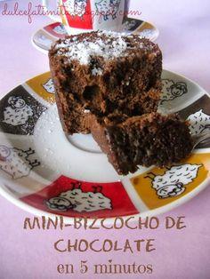 Mini-bizcocho de chocolate en 5 minutos