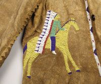 American Indian Art:War Shirts/Garments, A SIOUX PICTORIAL BEADED HIDE JACKET. . c. 1890. ... Native American Clothing, Native American Crafts, American Indian Art, Native American Beading, American Pride, Native American Indians, Native Americans, War Bonnet, Eagle Feathers
