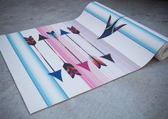 Freebird Printed Yoga Mat by vagabondgoodsyoga on Etsy