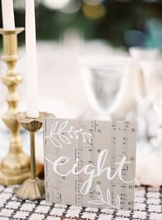 #table-numbers  Photography: Jen Huang Photography - jenhuangphotography.com  Read More: http://www.stylemepretty.com/2014/09/08/modern-tuscan-inspired-wedding-with-pops-of-color/