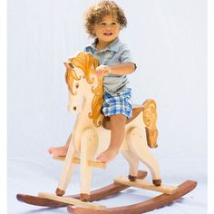 Handcrafted Wooden Rocking Horse JUDE from PoshTots