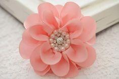 NEW Set of 2pcs Handmade silk flowerrose pink FB1041 by AsecInc