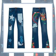 Wear your heart on your back pocket in Seafarer's Museum-Worthy Embroidered Jeans! Pre-order now at www.modaoperandi.com Discover more about the new Seafarer Syrena Special jeans on Vogue.com!