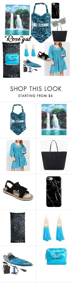 """""""Chasing Waterfalls"""" by sallytcrosswell ❤ liked on Polyvore featuring Chico's, Recover, Colortone and Pinch Provisions"""