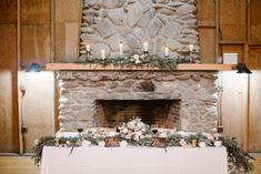Soft pink, white and green wedding | Mantel Decor and Sweetheart Table | S'mores Bar! | Spence Cabin Wedding | Appalachian Clubhouse Reception |  Smoky Mountain Wedding | Fall Wedding | Erin Morrison Photography | Absolute Wedding Perfection