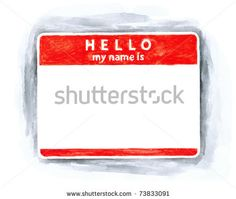 All my aquarelle drawings http://www.shutterstock.com/sets/16601-watercolor-painting.html?rid=498844 — Red blank name tag sticker HELLO my name is with shadow on white background. Handmade watercolor technique — Keywords: badge blank card clean clear communication conference delegate empty label made magenta material nametag office paint paintbrush painting paper pocket rectangle red school sketch sticky — #Royalty #free #stock #photo #illustration for $0.28 per download