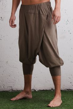 Low drop crotch ninja pants / baggy harem pants organic cotton