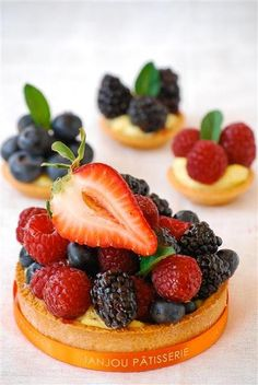 Mixed Berry Tarts from Janjou Patisserie in Boise, Id