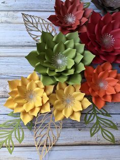 Most recent Cost-Free Set of 10 paper flowers /fall decorations /home decor Popular These decorations are simple and straight forward, but some people might never have these some ideas Paper Flower Wreaths, Paper Flower Backdrop, Flower Crafts, Flower Paper, Fall Flowers, Diy Flowers, Flower Decorations, Fall Decorations, Craft Stick Crafts