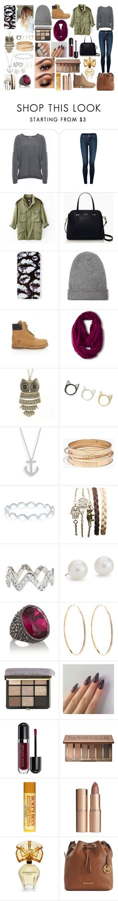 """""""Khadija"""" by seyna-niang-seck ❤ liked on Polyvore featuring Velvet, J Brand, NLST, Kate Spade, Markus Lupfer, Helmut Lang, Timberland, Merona, Madewell and BERRICLE"""