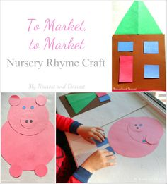 A craft activity for the nursery rhyme To Market, to Market.