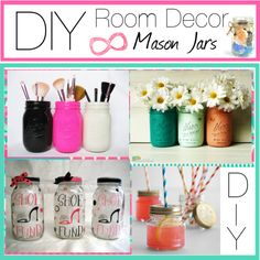 Spray paint diy room decor diy room decor with spray paint mason jars polyv on baby Mason Jar Projects, Mason Jar Crafts, Mason Jar Diy, Diy Projects, Cute Crafts, Diy And Crafts, Room Decor For Teen Girls, Do It Yourself Home, My New Room