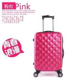 "mala de viagem com rodinha frosted ABS+PC 20"" luggage men luggage & travel bags airplane wheel piece diamond pattern"