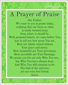 prayer of praise
