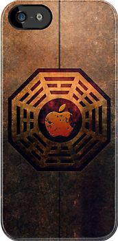 Steampunk Ying yang The Lost Dharma Apple Logo iphone 5, iphone 4 4s, iPhone 3Gs, iPod Touch 4g case