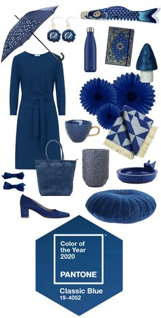 Pantone 2020 Classic Blue Color of the Year Azul Pantone, Pantone Colour Palettes, Pantone 2020, Pantone Color, Fashion Colours, Blue Fashion, Look Fashion, 2020 Fashion Trends, Fashion 2020