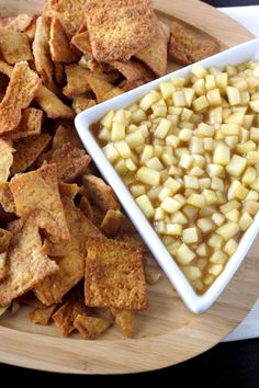 Apple Pie Dip  ~Tastes like the inside of an apple pie. Perfect served with cinnamon pita chips. ♥thanksgiving