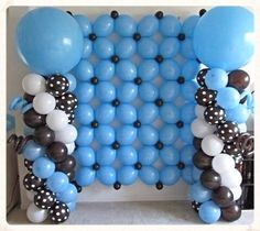 Baby Boy Baby Shower, Balloon wall,