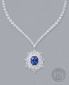 Jewelry Design Drawing, Harry Winston, Icon Collection, Sapphire Necklace, Sketch Design, High Jewelry, Designs To Draw, Diamond Pendant, Instagram