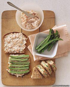 asparagus salmon & cream cheese sandwiches