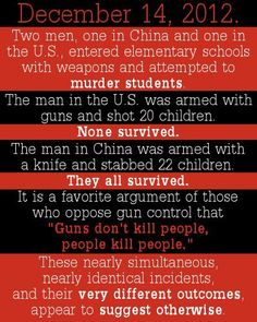 Guns don't kill people, people with guns kill people.
