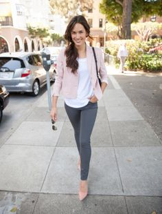 The Jasper Jacket's slightly cropped fit pairs perfectly with our Asher Pant or your favorite skinny jeans. Try it in dusty pink! http://chaikenclothing.com/jasper-jacket-dusty