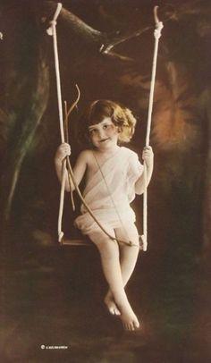 Cupid on a Swing, by Charles W. Gilhousen, c.1918
