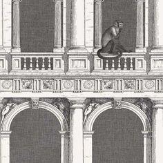 Cole and Son Fornasetti Senza Tempo Procuratie E Scimmie 114/21041 Wallpaper