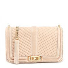 Rebecca Minkoff Pink Love Quilted Crossbody Bag (9.650 RUB) ❤ liked on Polyvore featuring bags, handbags, shoulder bags, purses, neutrals, chain shoulder bag, hand bags, pink crossbody purse, cross-body handbag and purse shoulder bag