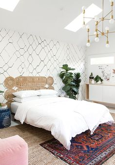 DIY headboard // Guest Room // Sarah Sherman Samuel