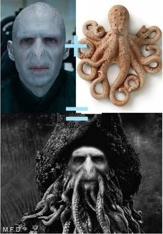 so that would mean that if Voldemort didn't explode, he would have fallen in the lake at Hogwarts and got married to the squid in there and then that's how that guy came into existence..