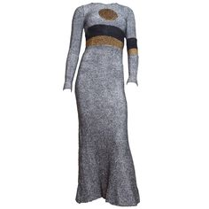 1970s Rudi Gernreich Metallic Dot Gown | From a collection of rare vintage evening dresses at https://www.1stdibs.com/fashion/clothing/evening-dresses/