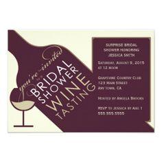 Vintage Wine Themed Bridal Shower Invitations