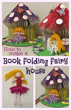 How to make a book folding fairy house