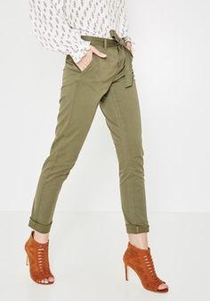 Canvas trousers Khaki