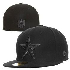 New Era Dallas Cowboys Basic Logo 59FIFTY Fitted Hat - Black $35