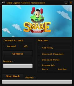 Snake Legends Hack Tool Cheats Download Free