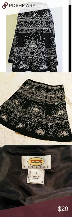 """🎉Talbot A Line Embroidered Skirt! 20"""" long and in like new condition.  Fully lined.  Looks amazing with boots and a sweater.  15% Bundle Discount on 2+ items🎉Thank you for shopping with me🎉 Talbots Skirts A-Line or Full"""