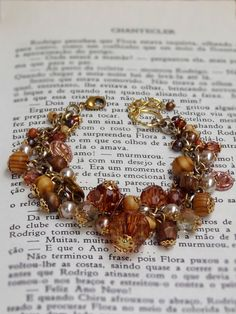 Pulseira Pérolas Dourada - Golden Pearls Bracelet | Beat Bijou | Elo7