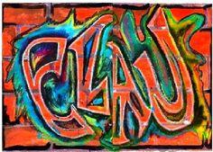 Activité d'arts plastiques pour le 3e cycle. (Peut aussi très bien se faire au secondaire) Créer un graffitis à l'aide de plusieurs médiums et techniques. Démarche sur 2 pages en PDF, exemple de police de caractère à utiliser et l'image de mon graffitis sur 8,5 x 11.