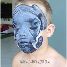 Alessandra Lezzi - face painting - ELEPHANT / ELEFANTE