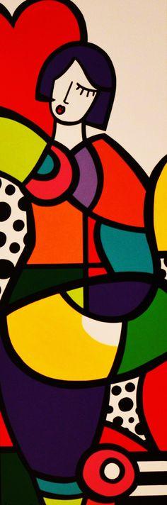 Galerie Duret - Virginia Benedicto - Dancing - acrylique sur toile - 120x40cm - 2015 #FredericClad #FredericClad