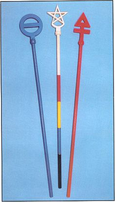 Alchemical wands of the greater officers of the temple - Hermetic Order of the Golden Dawn