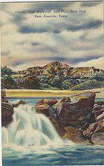 Capital Peak Waterfall, Duro State Park TX