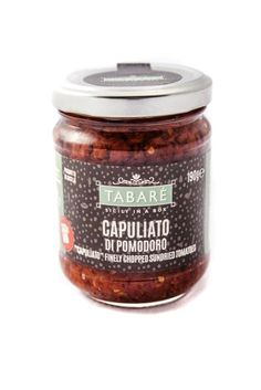 Sundried Tomato finely chopped in EVO. Perfect to spice up your pasta or original and delicious bruschettas. Try it also as dressing for white meat (chicken, fish, wild game meat). #sicily #tomato #capuliato #food #sicilianfood #condiment #sauce #bruschetta #pasta