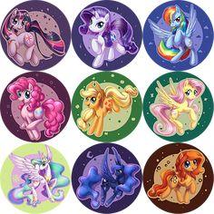 Pony buttons by ShinePawPony.deviantart.com on @deviantART
