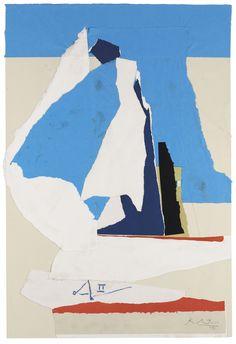 *Robert Motherwell, Australia II, 1983, acrylic on paper collage on board laid on board