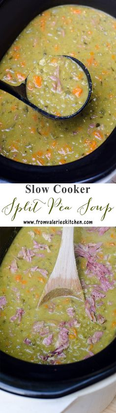Slow Cooker Split Pea Soup - the BEST method to create creamy delicious split pea soup! Slow Cooker Split Pea Soup - the BEST method to create creamy delicious split pea soup! Crock Pot Soup, Crock Pot Slow Cooker, Crock Pot Cooking, Slow Cooker Recipes, Soup Recipes, Cooking Recipes, Recipies, Fall Recipes, Healthy Recipes