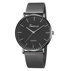 GENEVA Womens Classic Quartz Stainless Steel Wrist Watch Bracelet Watches