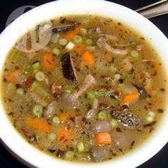 Soupe de champignons aux légumes